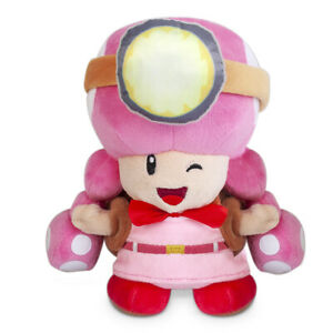 Super Mario Bros Captain Toad Toadette Plush Doll Stuffed Animal Toy 8 inch Gift