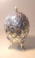 2001 WALLACE SILVERSMITHS SILVER PLATED WIND UP MUSICAL EGG BOX 1st Edition Disc