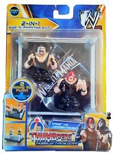 New WWE Thumbpers Series 1 Kane vs The Undertaker Finger Action Figures RARE 2PK
