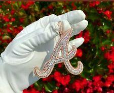 Men's Custom Initial Name Character Sim Diamond Pendant 14k Rose Gold Plated