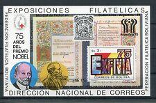Bolivien Block 78 postfrisch / Fußball - Nobelpreis .......................1/274