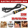 220V Electric Soldering Iron Welding Solder Kit 30W 40W 60W External Heated Tool