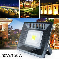 50W 150W Waterproof LED Flood Light Lamp Ultra-Thin Garden Outdoor   ❥