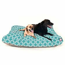 New listing Teal Links Extra Large Rectangle Indoor Outdoor Pet Dog Bed With Removable Wa.