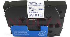 Azul Sobre Blanco Etiqueta Compatible Para Brother Tz Tze fa3 tzefa3 Hierro En Tela Cinta