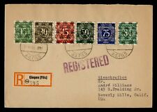 DR WHO 1948 GERMANY OVPT GINGEN REGISTERED TO USA  g42723
