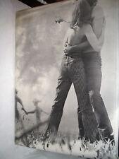 Original Vintage Poster Prints Man & Woman Together Love Black & White Jeans Ad