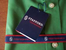 * STAFFORD Juniper Green Mens Size 14.5 34-35 Small S Classic Fit Dress Shirt