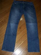 MENS 7 FOR ALL MANKIND SLIMMY JEANS WAIST 36 INSEAM 34 MADE IN USA 100% COTTON