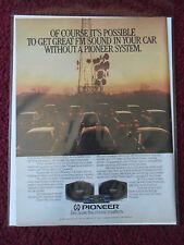 1984 Print Ad Pioneer FM Car Radio Music ~ Sound Silhouette