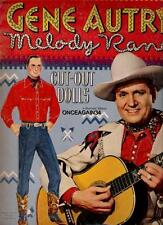 Vintage Uncut 1950 Gene Autry Paper Dolls~#1 Reproduction~Rare Hard-To-Find Set