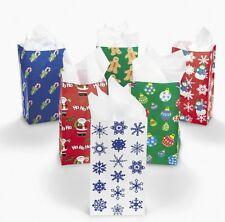 24 Holiday Christmas Gift Bags Santa Gingerbread Ornaments Snowflake Candycane