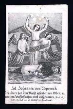 santino incisione 1800 S.GIOVANNI NEPOMUK