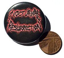NOCTURNAL RESURRECTION Medium Button Pin Badge 35mm Death Metal(NOT shirt patch)