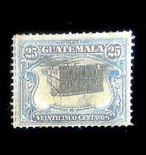 Guatemala 1911,- 25C  Blue Center Inverted ,Scott 141A ,Replica