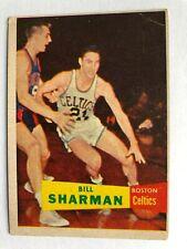 New listing BILL  SHARMAN / boston  CELTICS  - 1957-58  TOPPS  basketball  COLLECTOR  card