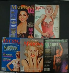 Madonna Magazines Lot of 5 VINTAGE FROM THE EARLY 90'S FAN MAGAZINES! NICE SHAPE
