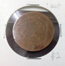 STRAITS SETTLEMENTS  QUEEN VICTORIA  1 cent  #2