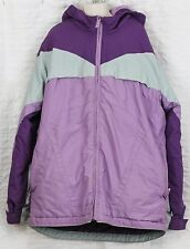 Lands End Girls Jacket Sz L 14 Fleece Lined Hoodie Snow Winter Parka