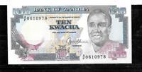 ZAMBIA #31b 1991 UNC  10 KWACHA OLD vintage  BANKNOTE NOTE BILL