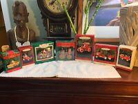 Vintage HALLMARK KEEPSAKE Fire Engine Trucks Cars Santa ORNAMENTS ChristmasLOT 7