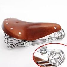 Retro Vintage Bicycle Bike Cycle Genuine Leather Saddle Seat Spring Comfort Seat