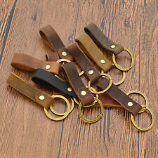 Synthetic Leather Strap Keyfob Key Chain Women Men Key Ring Random Handmade