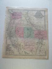 (1) 1860 Colton'S Western States, Or, Wa, Ca, Co, Nv, Ut, Nm, Az, Map, + Mexico