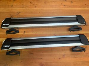 Thule 725 Flat Top 6 Ski Snowboard Carrier Roof Rack Locks Mount NO KEY