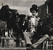 1940's Vintage 16x20 CIRCUS RINGMASTER Fred Bradna Dogs Ringling Bros. Photo Art