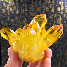 Natural Yellow Crystal Quartz Citrine Cluster Mineral Specimen Healing Gift 100g