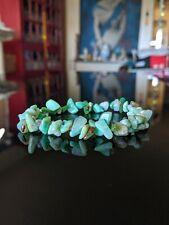 "Peruvian GREEN OPAL Chip Bead Bracelet Men Stretch 9mm(+/-) 7"", 7.5"", 8"" or 8.5"""
