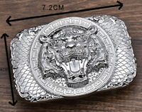 MENS NEW TIGER FACE LUXURY PIN BUCKLE ONLY FOR 38 MM BELTS WOMENS BELT BUCKLES