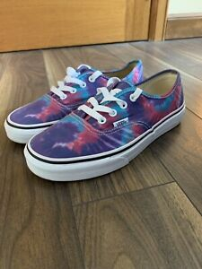 Vans Trainers Skater Multicolour Tie Dye Ladies Size 5 Used Good Condition