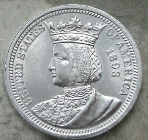 RARE**1893~~ISABELLA QUARTER~~SILVER ~~MS GEM UNCIRCULATED BEAUTY