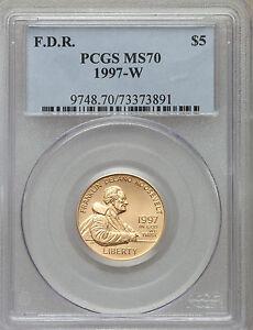 1997-W G$5 Franklin D. Roosevelt Gold Five Dollar MS70 PCGS (1061)