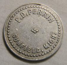 Sunfield  Mich F D Perrin  50c  token    (0570)