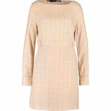 Genuine LOVE MOSCHINO Nude gaine Marque Imprimé Robe-Taille UK 14/IT 46