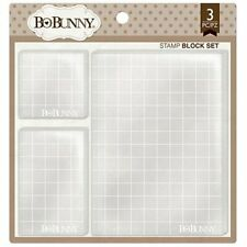 BOBUNNY STAMP BLOCK SET  WITH GRID LINES 3 PIECES