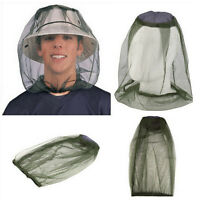 Mosquito Net Protector Face Midge Hat Mesh Insect Travel Bug Head Camping RS