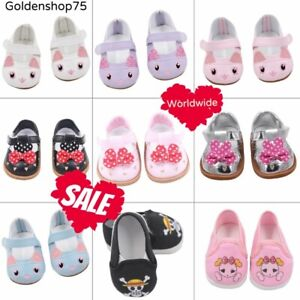 Doll Shoes 7cm High quality For 18 Inch American And Baby NEW Pattern Mini Shoes
