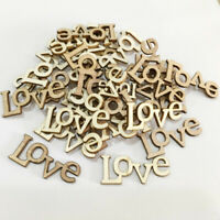 50pcs Love Wooden Cardmaking Wedding Confetti Ornaments Embellishment Craft DIY