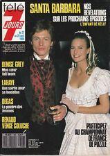 Télé 7 Jours N° 1456/1988 - Santa Barbara Max Meynier Renaud Venge Coluche