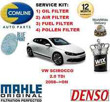 FOR VW SCIROCCO 2.0 TDi 2008->ON 140BHP OIL AIR FUEL POLLEN FILTER SERVICE KIT