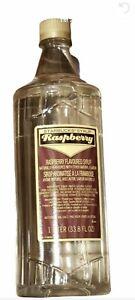New Starbucks Raspberry Flavored Syrup 1 Liter 33.8 fl oz Bottle - No Pump