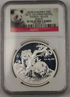 2013 China Silver Medal 1 Ozt .999 World Money Fair Berlin NGC PF-70 Ultra Cameo
