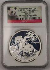 2013 China Silver Medal 1 Ozt .999 World Money Fair Berlin NGC PF-70 Ultra Cameo