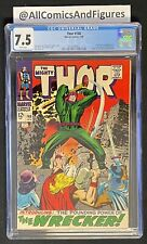 Thor #148 CGC 7.5 WHITE PAGES! First Appearance Of The Wrecker! Stan Lee Story!