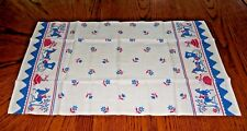 VINTAGE KITCHEN DISH TEA TOWEL HORSE CARRIAGE BUGGY FLORAL TULIP DAISY