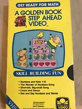 Golden Step Ahead VHS  Preschool Get Ready For Math Skill building fun  Rare